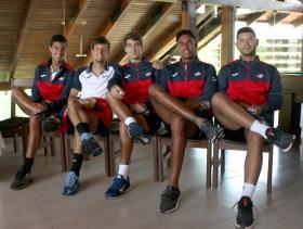 2020 Davis Cup WG I Playoffs BOL v DOM. Equipo Dominicano   by Olga Almánzar (1)