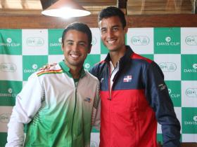 2020 Davis Cup WG I Playoffs BOL v DOM   Hugo Dellien (BOL) y Roberto Cid (DOM)  by Olga Almánzar (31)